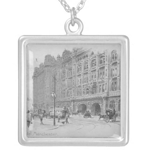 The Midland Hotel, Manchester, c.1910 Square Pendant Necklace