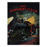 The Midnight Flyer Train Poster/Print