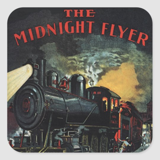 The Midnight Flyer Train Stickers