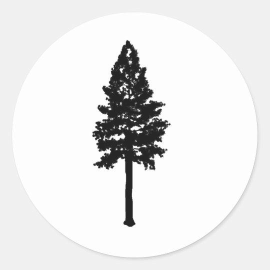 the midnight woods classic round sticker