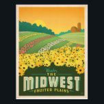 "The Midwest | United States Postcard<br><div class=""desc"">Anderson Design Group is an award-winning illustration and design firm in Nashville,  Tennessee. Founder Joel Anderson directs a team of talented artists to create original poster art that looks like classic vintage advertising prints from the 1920s to the 1960s.</div>"