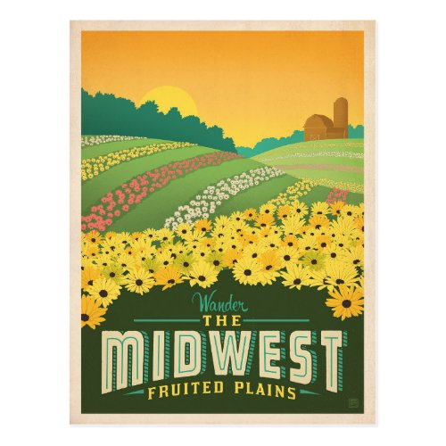 The Midwest  United States Postcard
