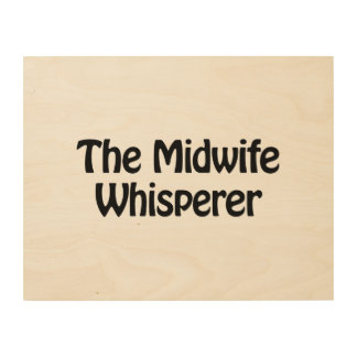 the midwife whisperer wood wall art