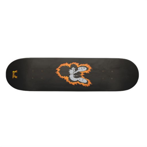 The Mighty Ape Paw of Metal Deck Skate Board Deck