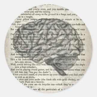 the mighty brain classic round sticker