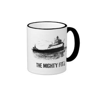 The Mighty Fitz Ringer Coffee Mug