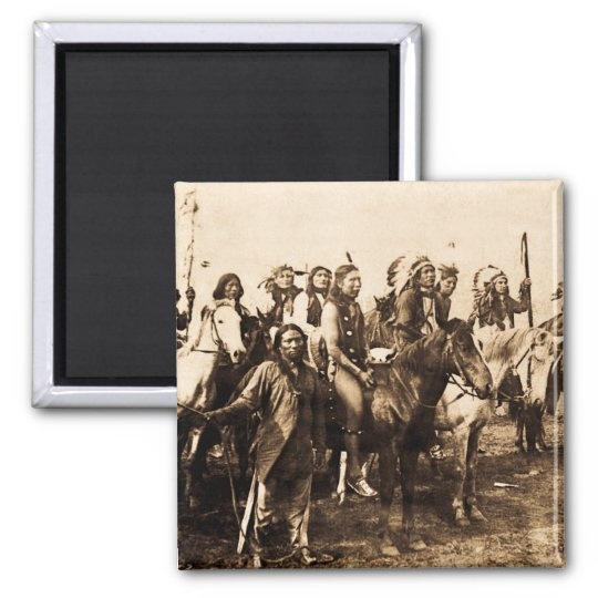The Mighty Sioux 2 Inch Square Magnet