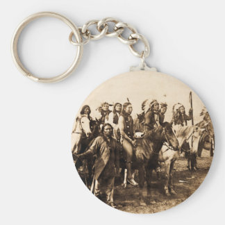 The Mighty Sioux Basic Round Button Keychain