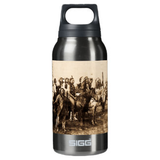 The Mighty Sioux Vintage Native American Warriors Insulated Water Bottle