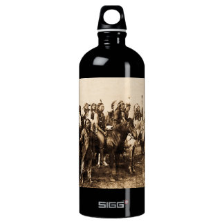The Mighty Sioux Vintage Native American Warriors Water Bottle