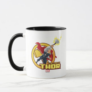 The Mighty Thor Character Graphic Mug