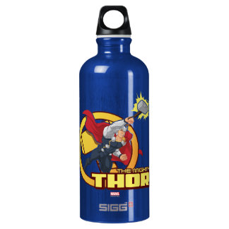 The Mighty Thor Character Graphic Water Bottle