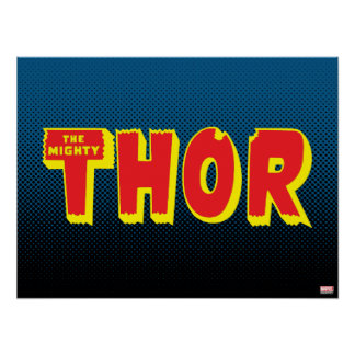 The Mighty Thor Logo Poster