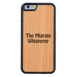 the migrate whisperer carved® cherry iPhone 6 bumper