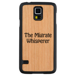the migrate whisperer carved® cherry galaxy s5 slim case