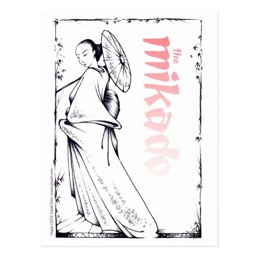 The Mikado postcard