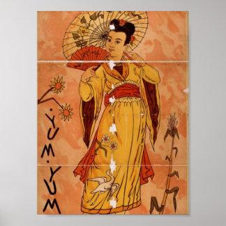 The MIKADO, 'yum yum' Retro Theater Poster