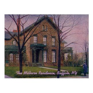 The Milburn Residence Vintage Postcard
