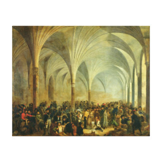 The Military Hospital of the French and Canvas Print