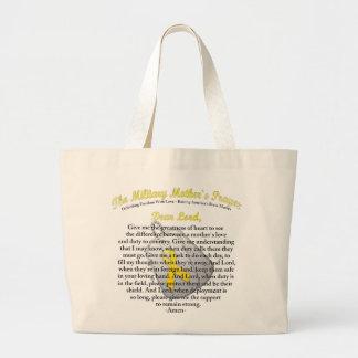 The Military Mother`s Prayer Jumbo Tote Bag