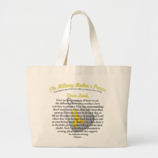 The Military Mother`s Prayer Large Tote Bag