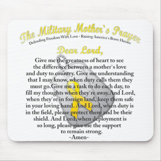 The Military Mother`s Prayer Mouse Pad