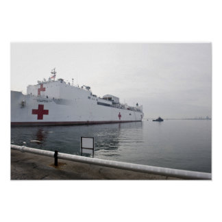 The Military Sealift Command hospital ship Posters