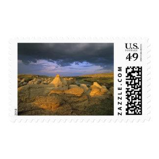 The Milk River runs through badlands of Writing 2 Postage Stamp
