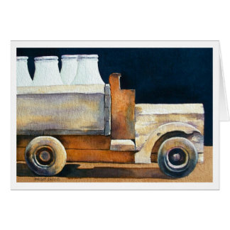 """ THE MILK TRUCK "" GREETING CARD"