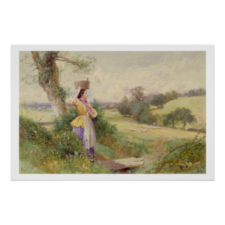 The Milkmaid, 1860 Poster