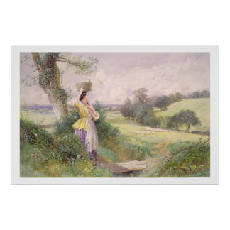 The Milkmaid, 1860 (w/c on paper) Poster