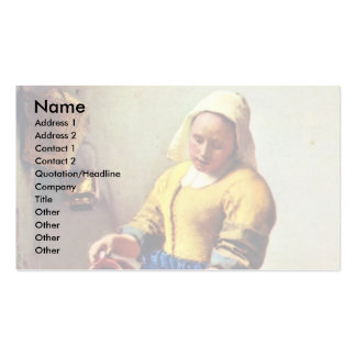 The Milkmaid [1]. By Johannes Vermeer Business Card Template