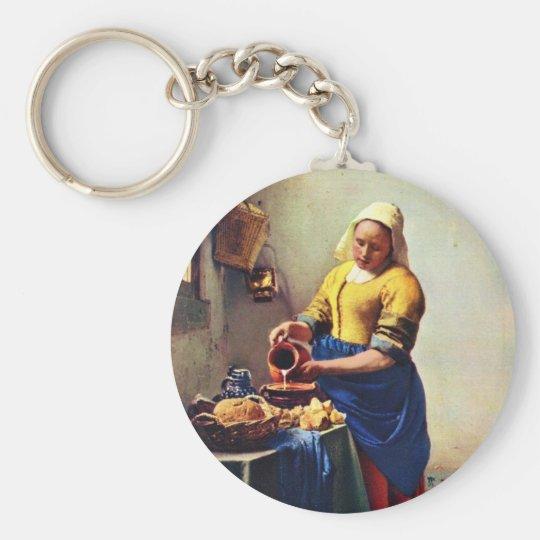 The Milkmaid [1]. By Johannes Vermeer Keychain