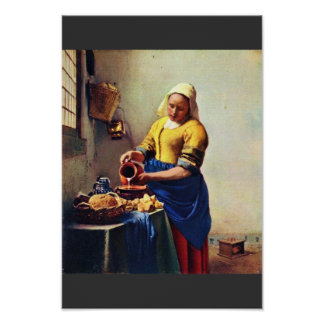 The Milkmaid [1]. By Johannes Vermeer Poster