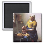The Milkmaid 2 Inch Square Magnet