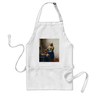 The Milkmaid by Johannes Vermeer Apron