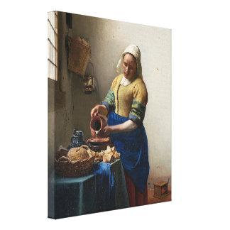 The Milkmaid by Johannes Vermeer Canvas Print