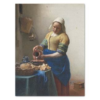 """The Milkmaid by Johannes Vermeer 15"""" X 20"""" Tissue Paper"""
