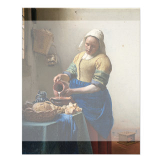 The Milkmaid by Johannes Vermeer Personalized Flyer