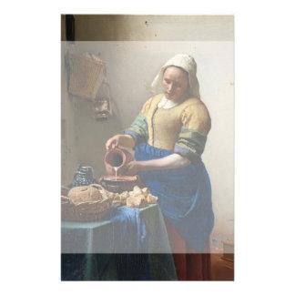 The Milkmaid by Johannes Vermeer Flyer Design