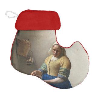 The Milkmaid by Johannes Vermeer Elf Christmas Stocking
