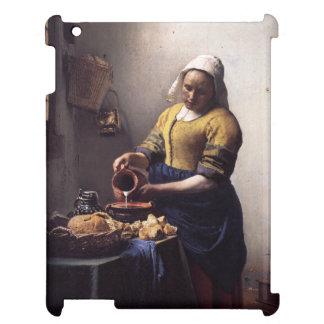 The Milkmaid by Johannes Vermeer iPad Case
