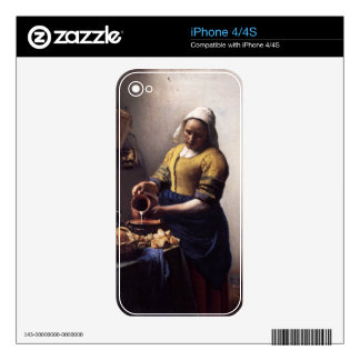 The Milkmaid by Johannes Vermeer iPhone 4S Decal