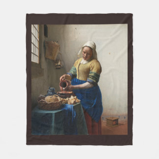 The Milkmaid by Johannes Vermeer Fleece Blanket