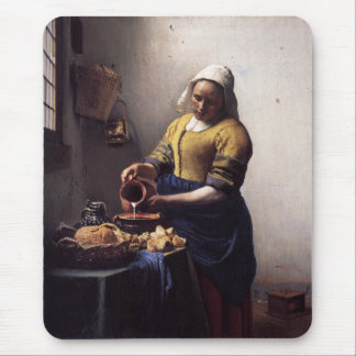 The Milkmaid by Johannes Vermeer Mouse Pad