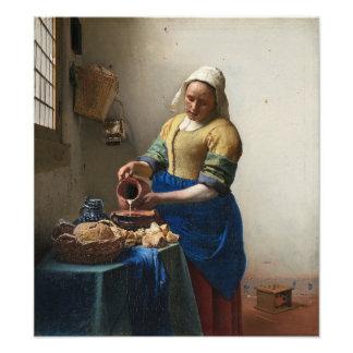 The Milkmaid by Johannes Vermeer Photo Art