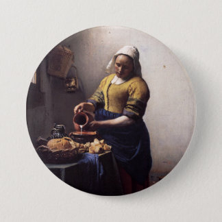 The Milkmaid by Johannes Vermeer Pinback Button