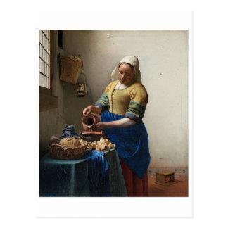 The Milkmaid by Johannes Vermeer Postcards