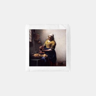 The Milkmaid by Johannes Vermeer Reusable Bag