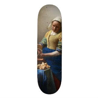 The Milkmaid by Johannes Vermeer Skate Decks
